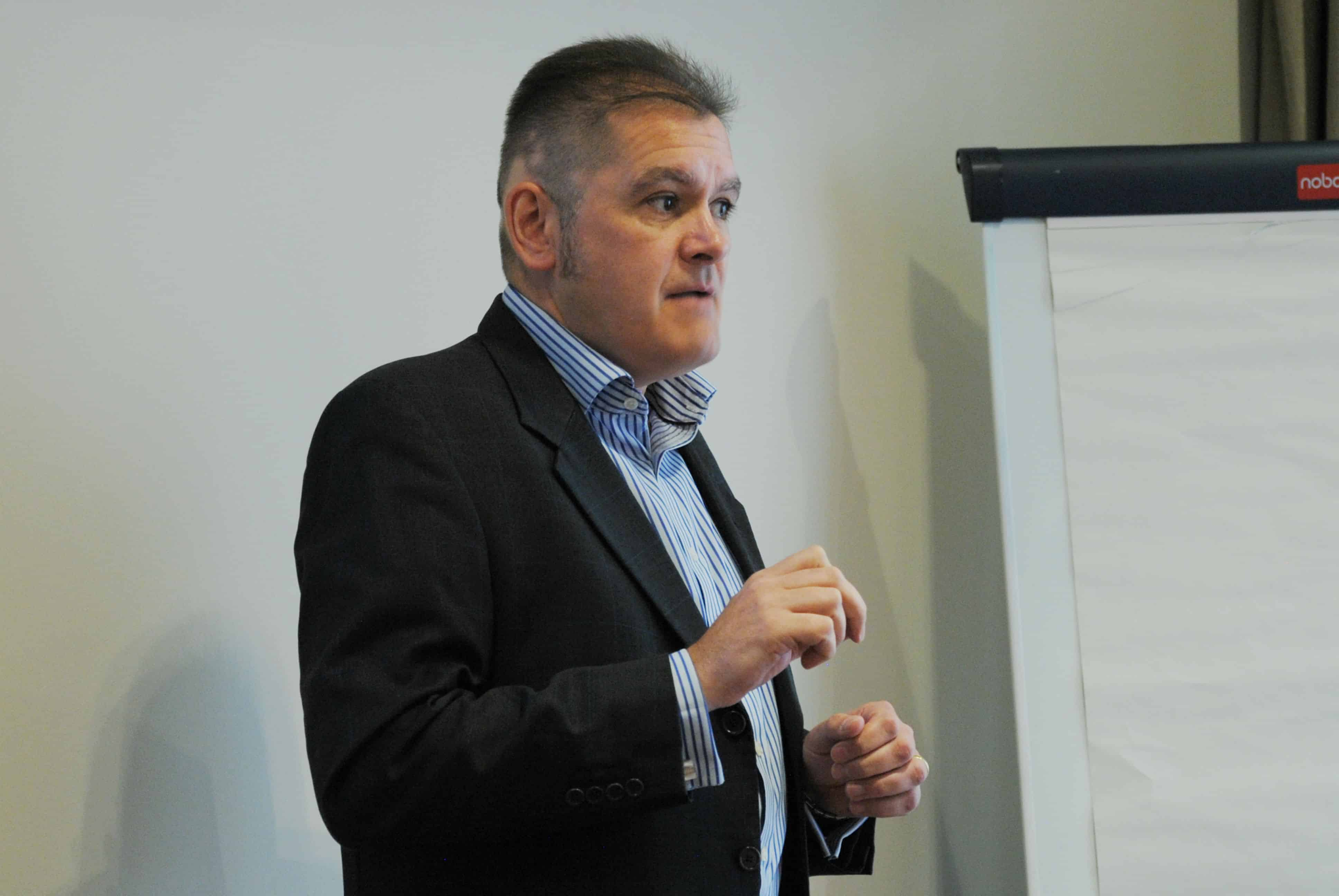 "James presenting at a ""Business Planning – 10 tips to maximise value and reduce tax"" seminar."
