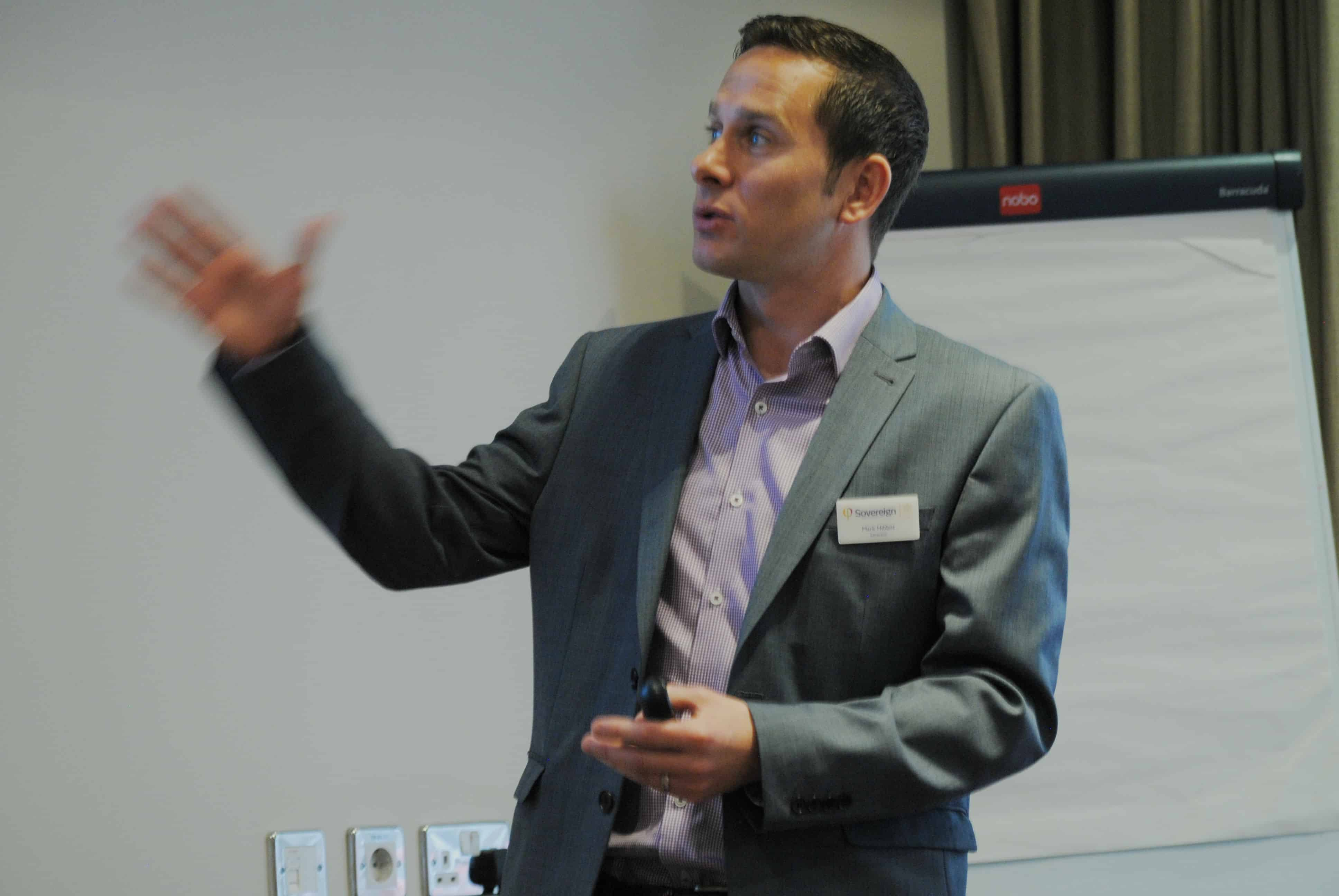 "Mark presenting at a ""Business Planning – 10 tips to maximise value and reduce tax"" seminar."
