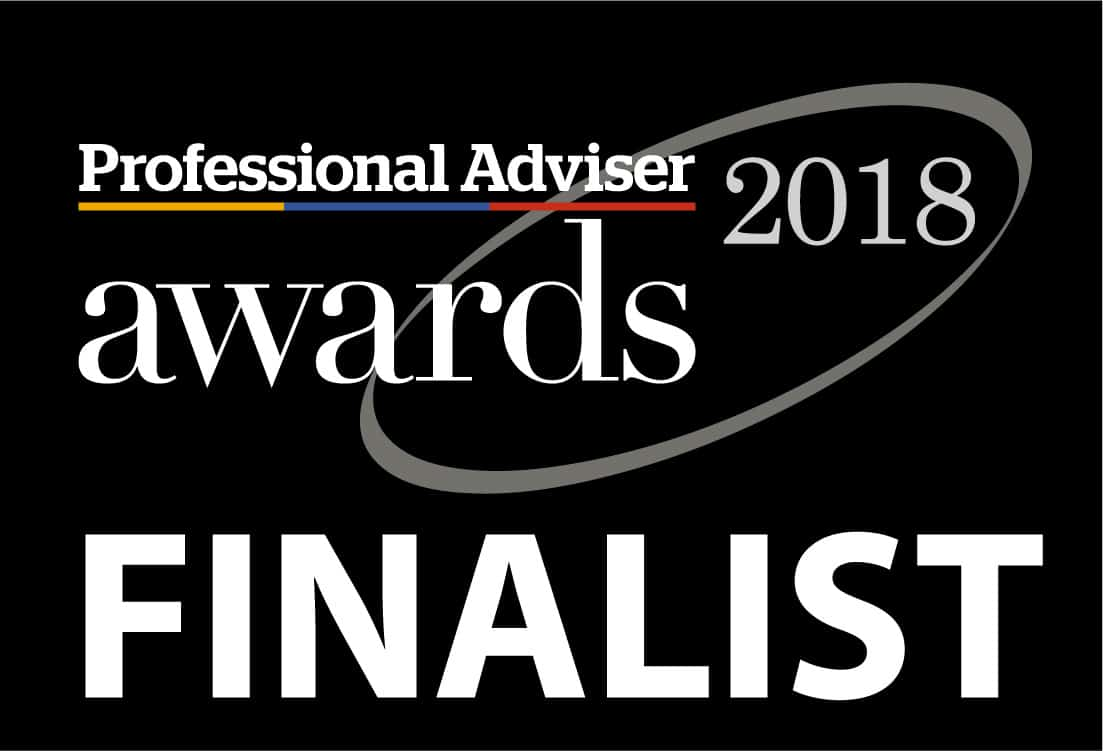 We were finalists in The Professional Adviser Awards in 2018