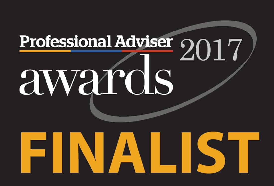 We were finalists in The Professional Adviser Awards in 2017